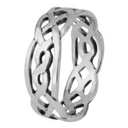 Celtic Knotwork Silver Puzzle Ring 0754